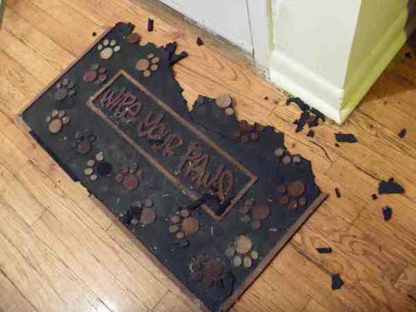 Destroyed door mat